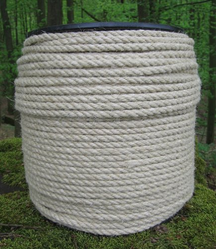 Corde de Chanvre diam. 6 mm – 200 Metre – 3 Strand Corde