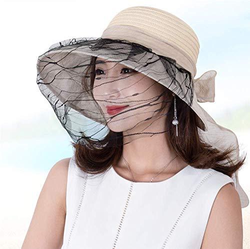 ZJDU Mosquito Head Net Hat Safari Wandern Angeln Hüte Sonnenschutz Wasserabweisende Eimer Hüte Mit Abnehmbarer Halsklappe Und Verstecktem Netz Uv Männer Oder Frauen,Beige