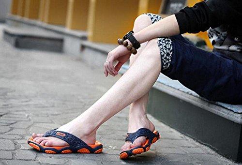 GLTER Männer Flip Flops Strand Schuhe Breathable Sandalen Sommer neue Hausschuhe Mode Pool Schuhe Orange