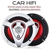 2pcs 6.5 Inch 220W Car HiFi Coaxial Speaker Vehicle Door Auto Audio Music