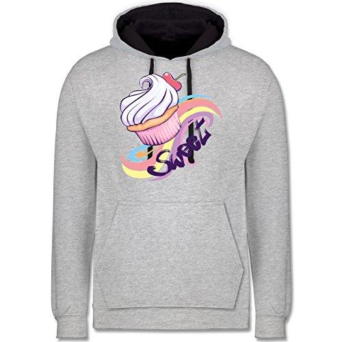 kche-sweet-cupcake-5xl-grau-meliert-dunkelblau-jh003-unisex-damen-herren-kontrast-hoodie