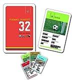Fussball Quartett Kartenspiel 32 teilig bunt 10x6x2cm