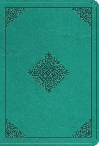 ESV Value Large Print Compact Bible (Trutone, Teal, Ornament Design) (Esv Compact Large Print Bible)