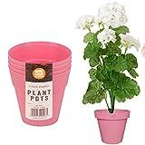 4Stück Kunststoff farbigen Pflanztöpfen ideal für, Blumen und Pflanzen in Haus und Garten
