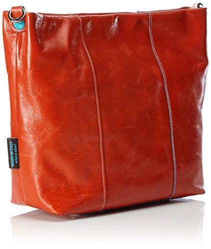 Gabs Damen Zula Schultertasche, 10 x 27 x 26 cm Rot (Corallo)