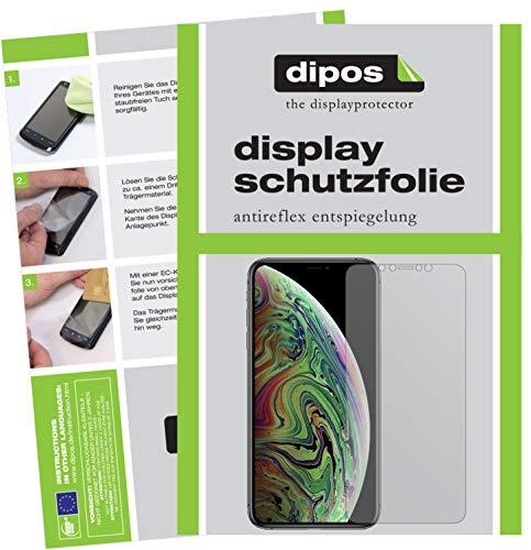 dipos I 6X Schutzfolie matt passend für Apple iPhone XS Max Folie Displayschutzfolie - 5 I Moshi Phone