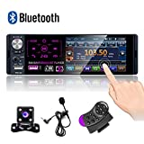 CAMECHO Autoradio Bluetooth 4 '' à écran Tactile capacitif Récepteur Radio...
