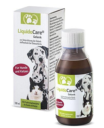 LiquidoCare® Gelenk Hund und Katze | Nahrungsergänzungsmittel bei Arthrose, Rheuma und Arthritis | 180 ml