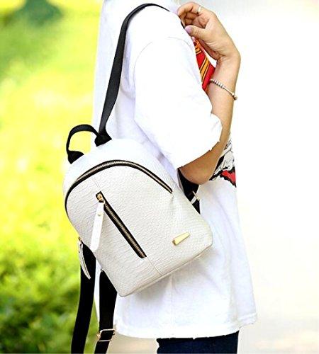 Spalle elegante confezione colore puro stile minimalista mini-borse tracolla zaino studenti,a spalle,A rosso bianca