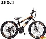 Jungen MTB Schwarz-Orange 26 Zoll