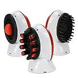Großer Verkauf!! FINE DRAGON Elektrische Kopfhaut Massagegerät Wasserdichte Haarewasch Bürste Shampoo Kopfmassage Bürste Pinsel mit 3 Bürstenkopf für Haar Wachstum, Reinigung und Kopf Durchblutung, Rot