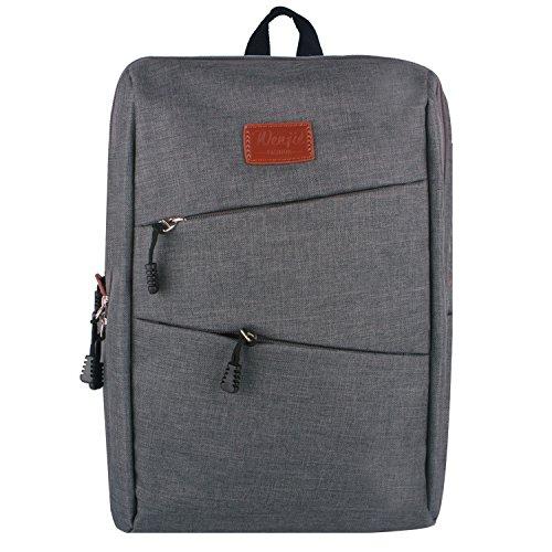 Evay 14 Zoll Notebook Laptop Rucksack für Damen Vintage Universität Schulrucksäcke Laptoprucksack Grau