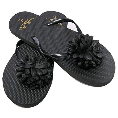 Schuhe Frauen Schuhe Neue 2019 Frauen Hibiscus Blumen Muster Sommer Strand Hausschuhe Tong Sandalen Flache Rutschen