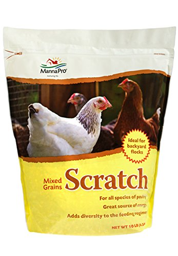 Manna Pro-Farm Scratch Mixed Grains Poultry Feeding Supplement Protein 10lbs (Lb-protein 10)