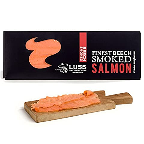 Whole side of Scottish smoked salmon, pre- sliced. Smoked salmon gourmet gift. UK mainland delivery included.