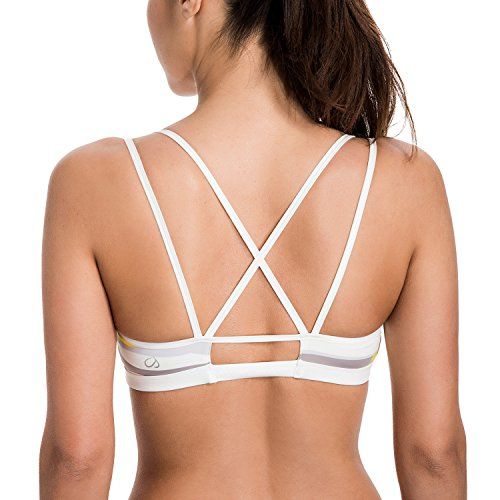 CRZ-YOGA-Womens-Padded-Wire-Free-Cool-look-Criss-Cross-Back-Yoga-Sports-Bra