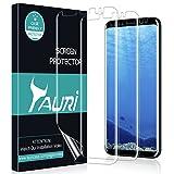 TAURI Protector de Pantalla para Samsung Galaxy S8 Piel Líquida[3 Pack] [Instalación de Agua] HD Clear Protector de Película TPU [Sin Burbujas, Instalación Fácil]