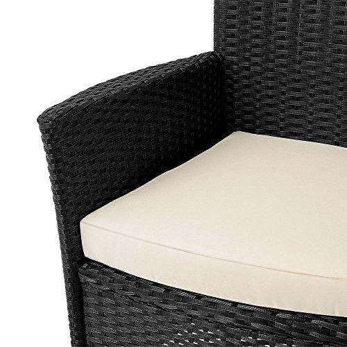 17tlg PolyRattan Sitzgruppe Gartenmöbel Gartenset Lounge Rattan Gartengarnitur Essgruppe Rattan - 4