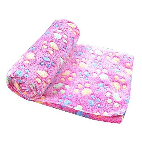 Super Softe Warme Hundedecke Fleece-Decke Tier Schlafdeck für Welpen Kätzchen Rosa