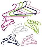 Unbekannt 8 TLG. Set: Kleiderbügel - kräftiges PINK - aus Kunststoff - für Babybekleidung & Kinderbekleidung / Kinder Baby / Jungen / Mädchen - Kinderkleiderbügel bunt
