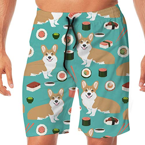 8880747757 cleaer Corgi Sushi Cute Red and White Corgis Design Sushi Kawaii Japanese  Cute Corgis Design Men's