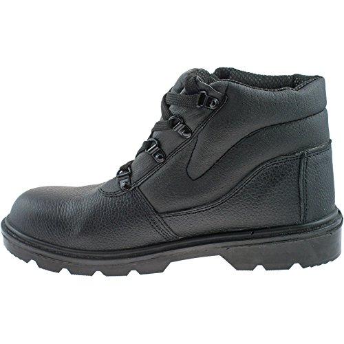 De A Negro Hombre Grafters Seguridad Zapatos aIEpnq