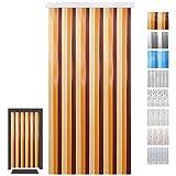 Türvorhang Fadenvorhang PVC, Auswahl: beige - braun - dkl braun 100 x 200 cm