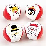 Baker Ross Mini-Softbälle mit Weihnachtsmotiven - Zum Spielen und als Geschenk für Kinder zu Weihnachten (4 Stück)