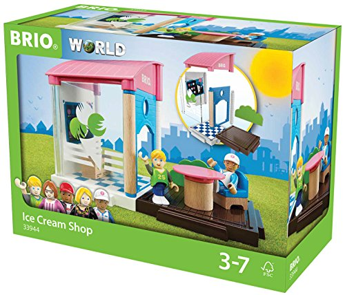 BRIO World 33944 - Village Eisdiele, bunt