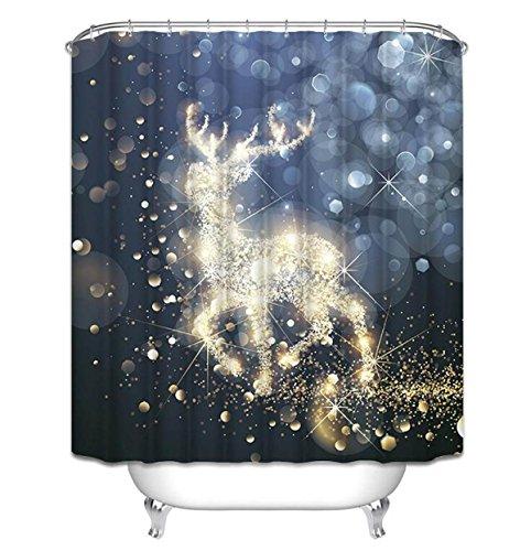 Duschvorhang Glänzend Wasserdicht Verdickt WC Mehltau Regenschirm Vorhang Bad Vorhang Kreative Tier Duschvorhang,180*180cm+plastichook