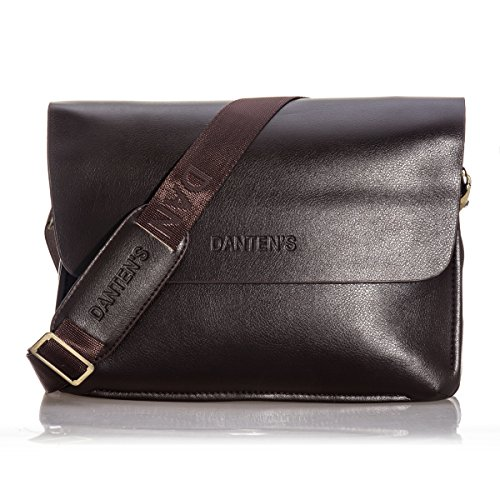 Daditong Men's Genuine Leather Handbag Messenger Shoulder Briefcase Laptop iPad BAG Purse Horizontal (Bag Briefcase Computer)
