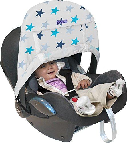 Preisvergleich Produktbild Original Dooky 126319 Sonnenschirm für Autositz Gruppe 0 - Stern, blau
