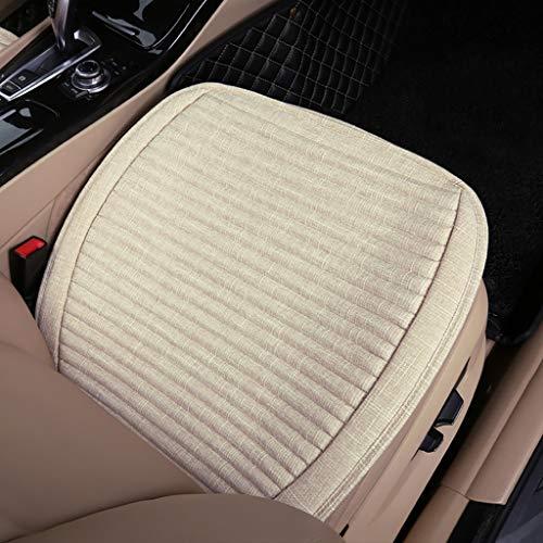 Seat cushiontu Coussin de siège Monolithique sans Dossier Tissu Coquille de Sarrasin Lin Tapis de Voiture Four Seasons Universal Coussin de siège (Couleur : G, Taille : 66cm)