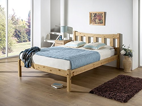 Snuggle Beds Poppy Solid Slats Wooden Pine Bed Frame 4FT6 Double