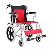 Shisky Thickened steel tube wheelchair lightweight folding flat lay elderly wheelchair disabled trolley