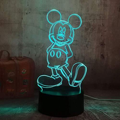 /Cartoon Nette Mickey Mouse 3D LED Nachtlicht Illusion Neuheit Tisch Schreibtischlampe Geburtstag Kind Kinder Wohnkultur ()