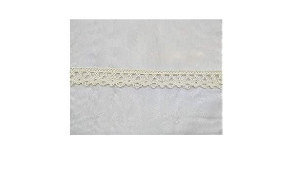 Bianco TOMASELLI MERCERIA Passamaneria puntina Merletto Pizzo in Cotone Smerlato Modello archetti Bianco o Panna Alto 8 mm ffb