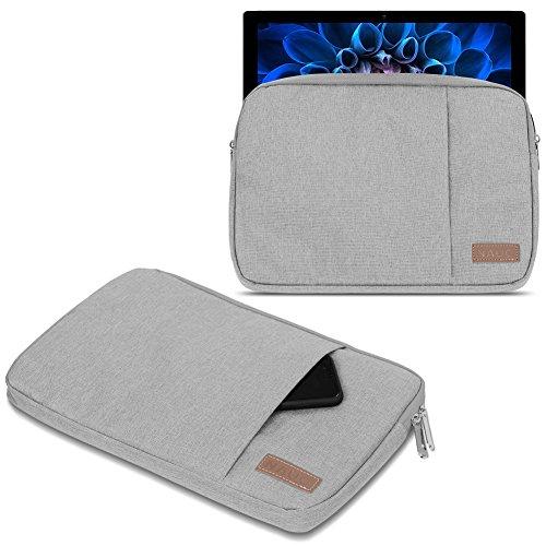 UC-Express Acer Switch Alpha 12 Hülle Tasche Notebook Schutzhülle Schwarz/Grau Cover Case, Farbe:Grau