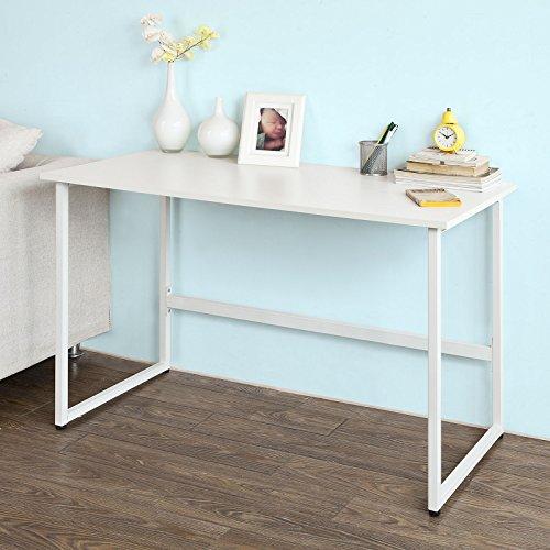 SoBuy® Tavolo consolle, Tavolo per Computer, Tavolo da ufficio,bianco,FWT13-W,IT
