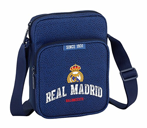 Safta Bandolera Real Madrid Basket Oficial Con Bolsillo