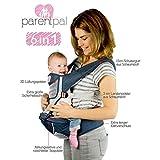 Multifunktionaler Babytrage-Hüftsitz in Schwarz von ParentPal, Für Kleinkinder bis 15 kg Gewicht oder 36 Monate, Ergonomische Kindertrage schont Rücken und Hüfte, Bauchtrage 100% schadstofffrei