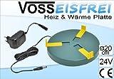 Heizplatte für Tränkenwärmer Tränkenheizung , 20cm, inkl. Netzteil 24V/ 12W