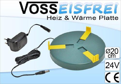 Heizplatte für Tränkenwärmer Tränkenheizung , 20cm, inkl. Netzteil 24V/ 12W -