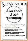 PST-Schild - STRESS-SCHILD - Schild Spaßschild HSK Spassschild Spass Funschild Fun Fun-Schild Türschild Tür Kunststoff Kunststoffschild Geschenk Geburtstag