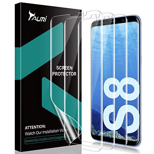 TAURI [3 Stück Schutzfolie für Samsung Galaxy S8, Galaxy S8 Weich TPU Displayschutzfolie Folie [Blasenfreie] [Klar HD] [Lebenslange Ersatzgarantie]