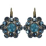 Ohrringe Konplott Bended Lights Blau | Ohr-Schmuck mit Glitzer-Steinen | Ohr-Hänger für Damen in verschiedenen Farben | Konplott - Einzigartiger Modeschmuck mit Swarovski Elements