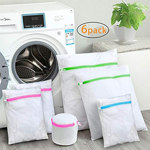 TSH mesh lavanderia borse per lavatrici, riutilizzare durevole borsa per lavatrice delicati camicetta lavaggio net bag per abiti, biancheria intima, calze, bras-set di 6
