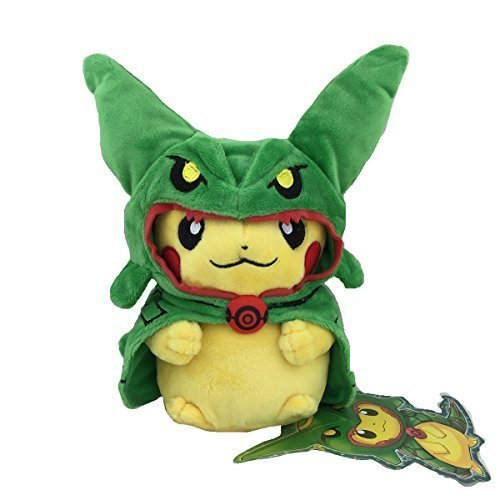 Pokemon-Peluche-Pikachu-Disfraz-Poncho-Rayquaza-20-centimetros