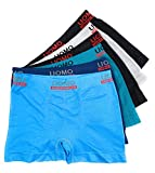 Laake 6 Stück Kinder Jungen Unterhosen Retro-Pants Boxer Shorts Schlüpfer Uomo Unifarben Sport (Sport-uni-01, 128-140)
