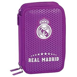 Real Madrid – Plumier triple 41 piezas, 2ª equipacion temporada 2016/2017 (Safta 411677057)